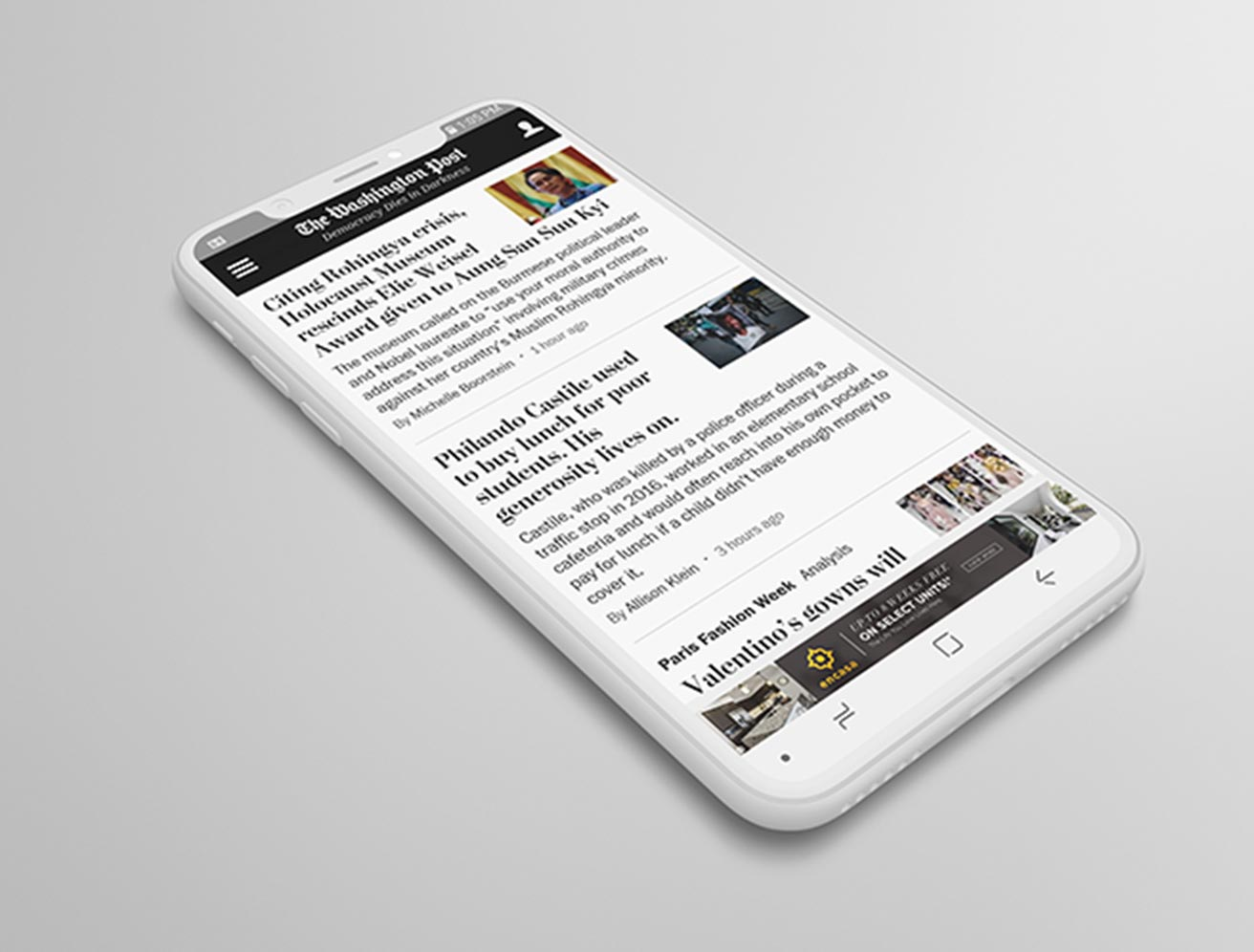 Mobile Phone with News Website